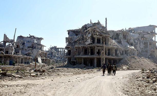 Pommitukset ovat aiheuttaneet laajalti valtavaa tuhoa Syyrian Itä-Ghoutassa.