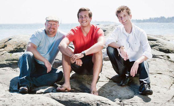 Kuvassa vasemmalta Henri, Markus ja Matti.