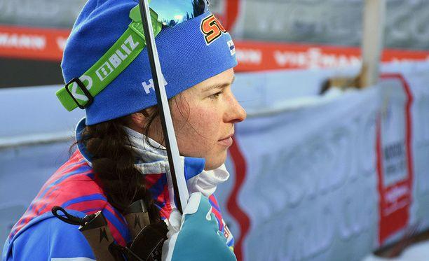 Krista Pärmäkoski on kokonaistilanteessa neljäntenä ennen keskiviikon sprinttejä.