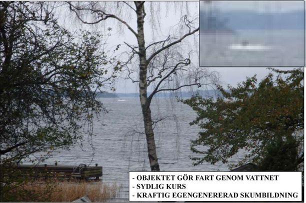 Asiantuntija tiesi tästä kuvasta, että saaristossa on oltava sukellusvene.