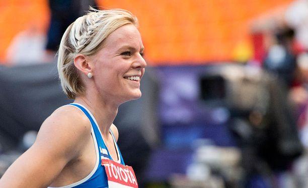 Hanna-Maari Latvala sai iloisen yllätyksen.