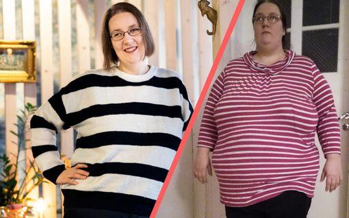 """Susanna, 33, oli liian lihava töihin ja rahapulassa – nyt 70 kiloa kevyempänä hänellä on vakityö, voimia leikkiä lasten kanssa ja """"kiva kroppa"""""""