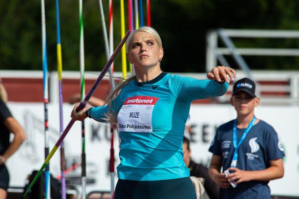 Latvian Lina Muze voitti Kuortaneen keihäskisan lauantaina.
