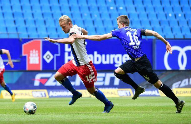 Joel Pohjanpalo pelaa väkevää kautta HSV:ssä.