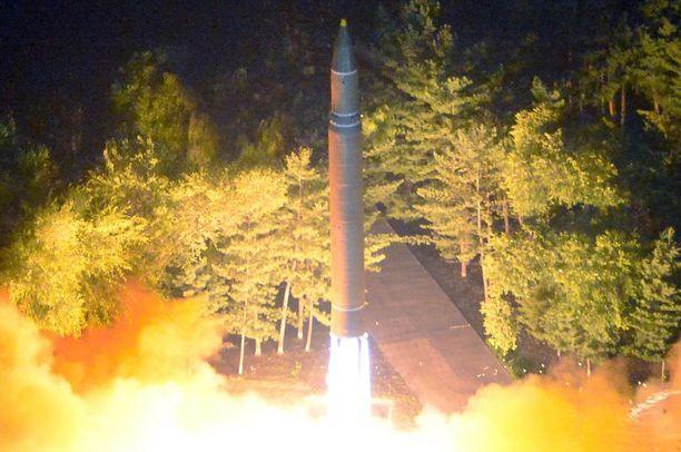 Pohjois-Korean julkaisemaa kuvaa ohjuskokeesta heinäkuun lopulta.