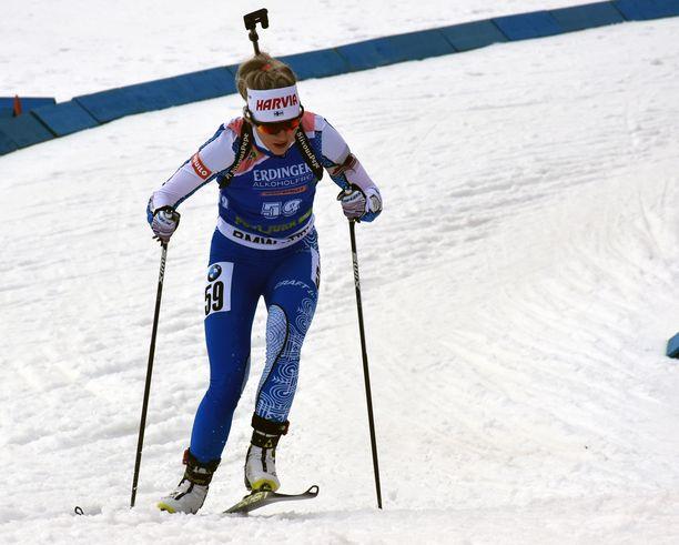 Venla Lehtonen oli sijalla 36 ampumahiihdon maailmancupin osakilpailussa torstaina Slovenian Pokljukassa.