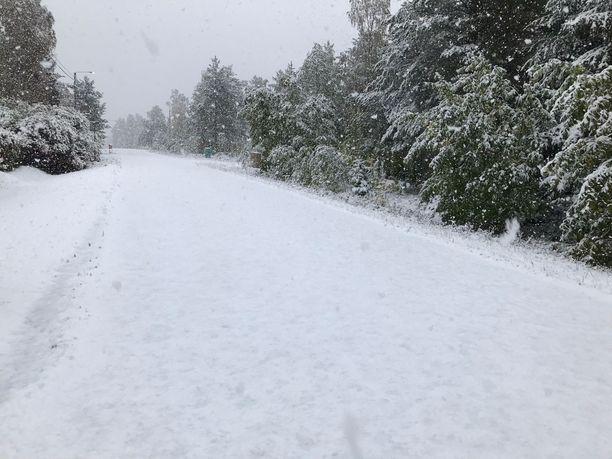 Kemissä näyttää siltä, että kohta pääsee hiihtämään.