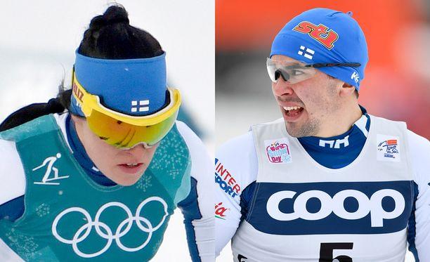 Krista Pärmäkoski ja Ristomatti Hakola esiintyivät vakuuttavasti sprintin karsinnoissa.