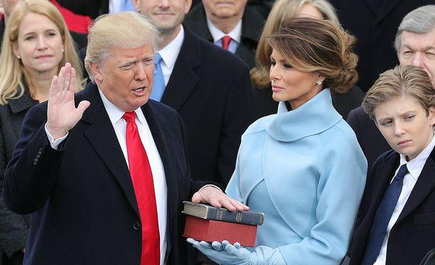 Kuva Trumpin virkaanastujaisista.