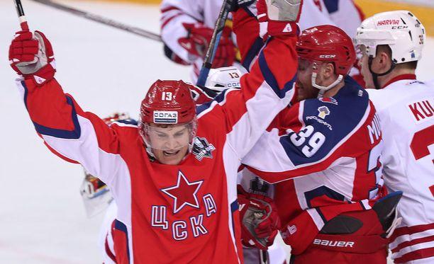 ZSKA juhli Moskovassa 4-2-voittoa Jokerien kustannuksella.