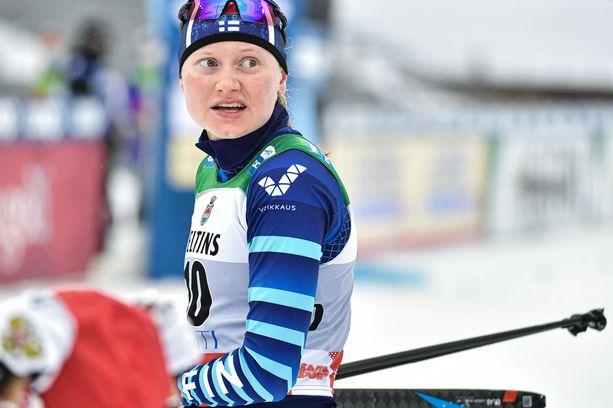 Johanna Matintalolla oli Oberstdorfin laduilla kuuma, sillä hän saapui Saksaan Rovaniemen pakkasista.