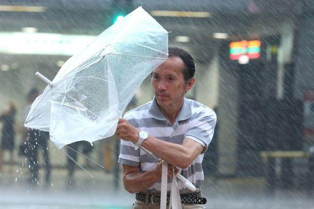 Pahin myrsky oli Osakassa.