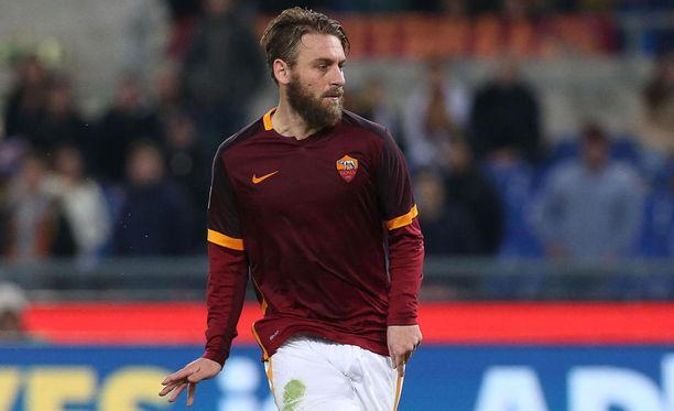 32-vuotias Daniele de Rossi on edustanut Romaa koko uransa.