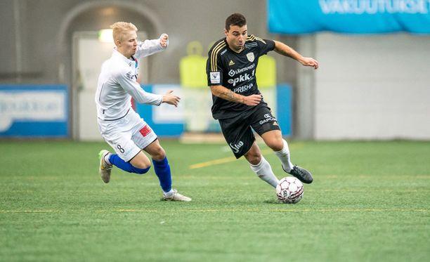PS Kemin Joona Veteli ja SJK:n Alexei Eremenko junior kohtasivat myös liigacupissa.