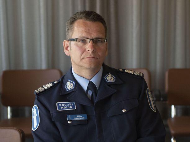 Itä-Uudenmaan poliisilaitoksen poliisipäällikkö Ilkka Koskimäki.