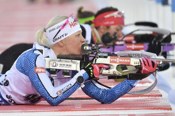 Ammunta on ollut Kaisa Mäkäräiselle läpi uran hiihtoa epävarmempi osa-alue.