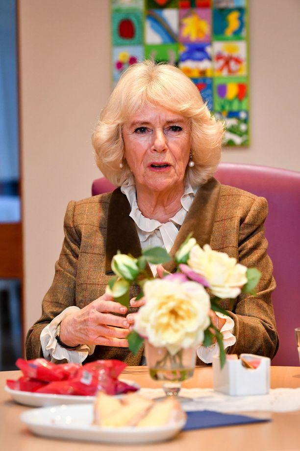 Herttuatar Camilla oli edustustehtävissä maanantaina.