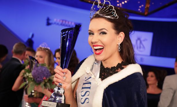 Michaela Söderholm on Miss Suomi 2017.