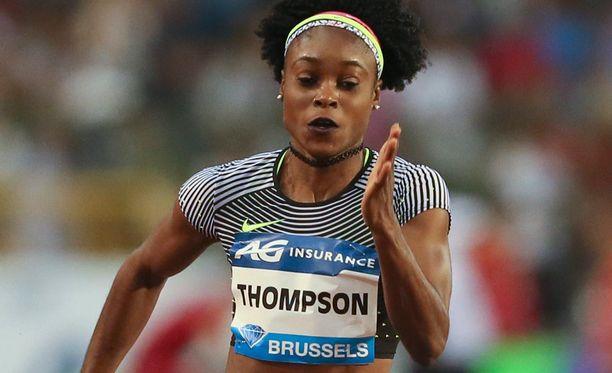 Elaine Thompson pinkoi huippuajan 100 metrin kisassa.