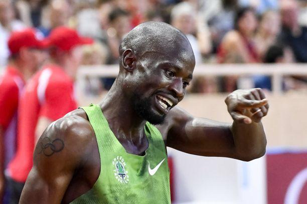 Nijel Amos on 800 metrin juoksussa maailmantilaston kärkimies.