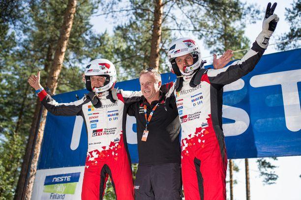 Martin Järvenoja, Tommi Mäkinen ja Ott Tänäk ovat saaneet juhlia MM-rallin voittoa seitsemän kertaa yhdessä.