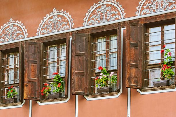 Plovdivin vanhankaupungin yksityiskohtia.