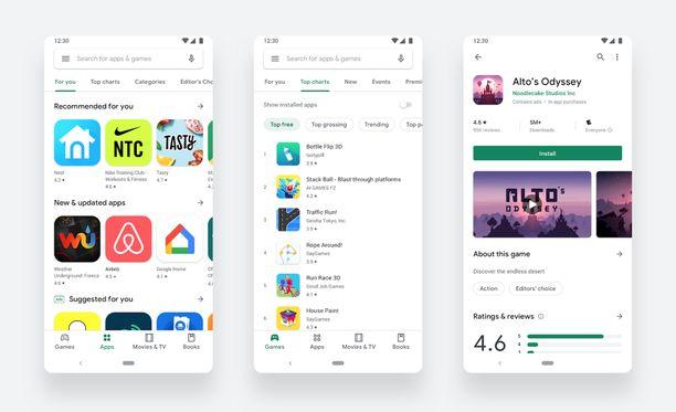 Google on tehnyt Play-kaupasta helppokäyttöisemmän.