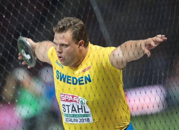 Kiekonheittäjä Daniel Ståhl on urallaan voittanut MM- ja EM-hopeaa.