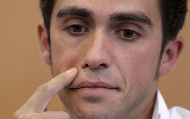 Alberto Contador ei myönnä käyttäneensä kiellettyä ainetta.