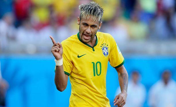 Brasilian tähtipelaaja Neymar on kisojen suosituin pelaaja.
