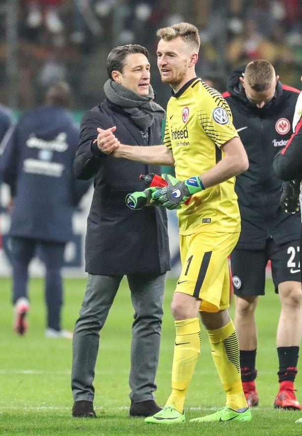 Lukas Hradeckylla on mahdollisuus yltää jopa Mestarien liigaan Frankfurtin kanssa.