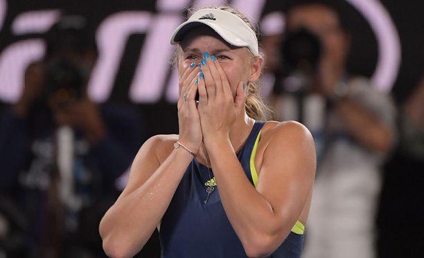 Caroline Wozniacki nappasi uransa ensimmäisen suurturnausvoittonsa.