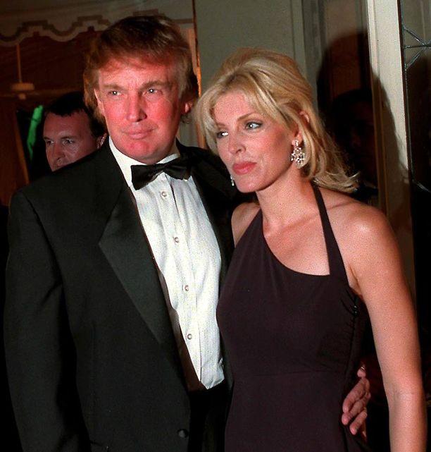 Marla Maples ja Donald Trump vuonna 1997.