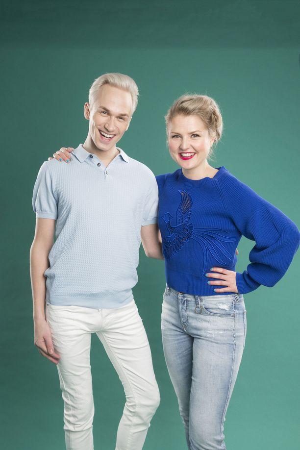 Christoffer Strandberg ja Helmi-Leena Nummela odottavat innolla uuden Putous-kauden alkua.