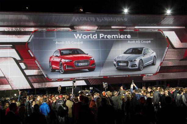 Audi juhli uutta Coupeaan Ingolstadissa torstai-iltana kesäkuun 2. päivä.