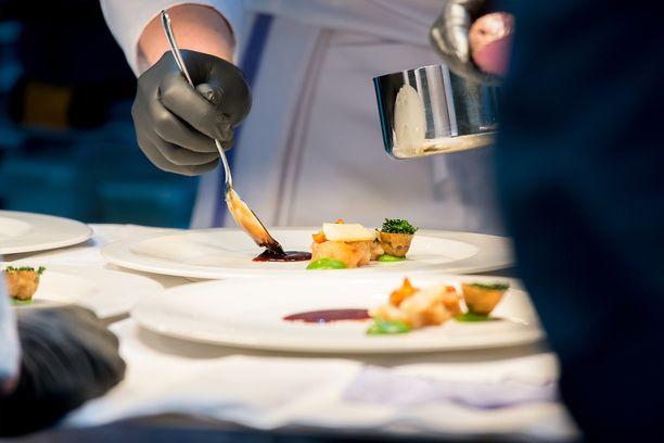 Muun muassa tällaisia annoksia Suomi taiteili Erfurt Culinary Olympics 2016 -kisassa.