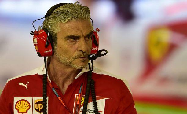 Tallipäällikkö Maurizio Arrivabene sai huokaista helpotuksesta.