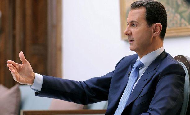 Syyrian presidentti Bashar al-Assad on kommentoinut lännen vastaiskua.