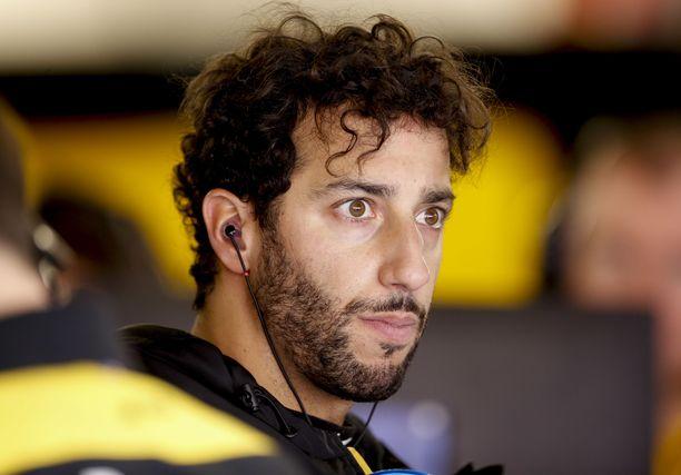Daniel Ricciardo osaa olla tarvittaessa myös vakava.