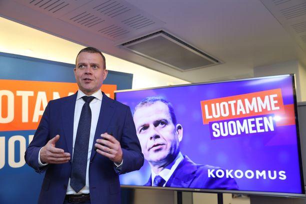 Lasku. Alma-gallupin maaliskuun kyselytutkimuksessa suurin yksittäinen muutos on kokoomuksen kannatuslasku: Petteri Orpon johtaman puolueen kannatus putosi 1,6 prosenttiyksikköä.