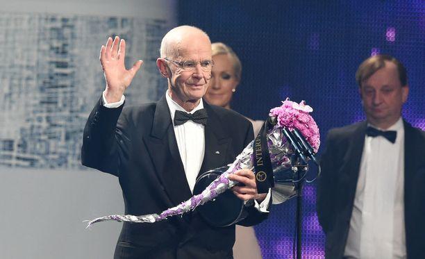 Peter Tallberg pokkasi tammikuussa järjestetyssä Urheilugaalassa palkinnon ansiokkaasta elämänurastaan.