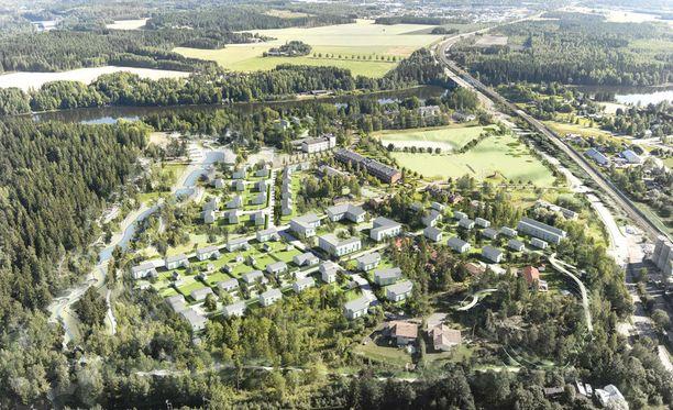 Kouvolan asuntomessualue sijaitsee Korian vanhalla varuskunta-alueella Pioneeripuistossa.
