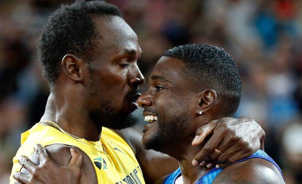 Usain Bolt ja Justin Gatlin ovat kavereita.