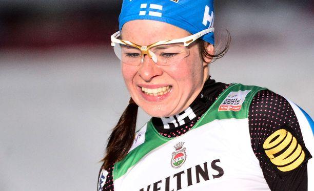 Krista Pärmäkoski hiihti tänään kahdeksanneksi.