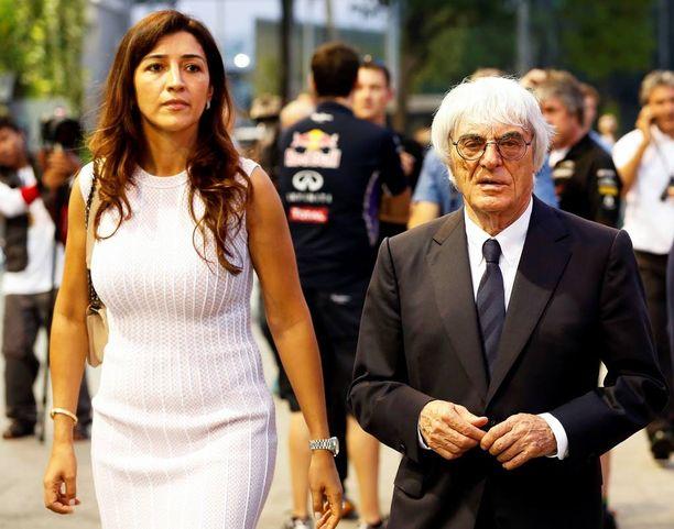 Bernie Ecclestone ja Fabiana Flosi avioituivat vuonna 2012.