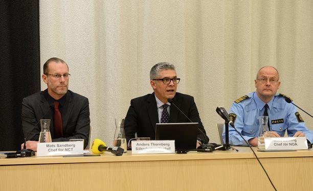 Mats Sandberg, Anders Thornberg ja Mats Löfving kertoivat keskiviikkona, että Ruotsissa suunniteltiin terroritekoa.