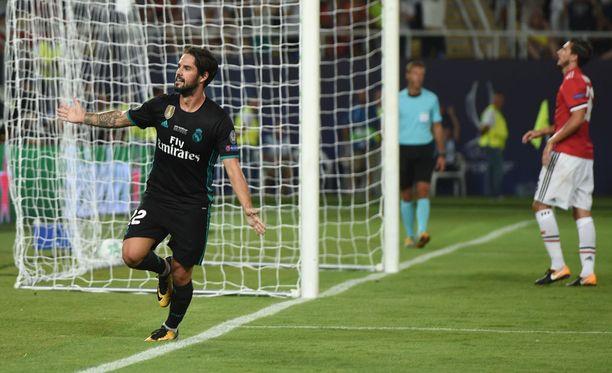 Isco taituroi Real Madridin voittomaalin.