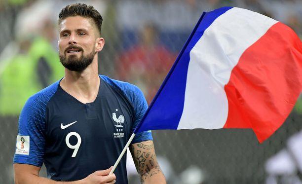 Ranskan ykköskärki Olivier Giroud oli maalipaikoissa todella tehoton.