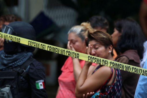 Väkivaltaisuuksien takia Acapulcossa järjestetään mielenilmauksia tämän tästä.