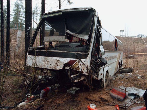 Neljän ihmisen hengen vaatinut Heinolan bussiturma tapahtui tasan 20 vuotta sitten 17. huhtikuuta vuonna 1999.